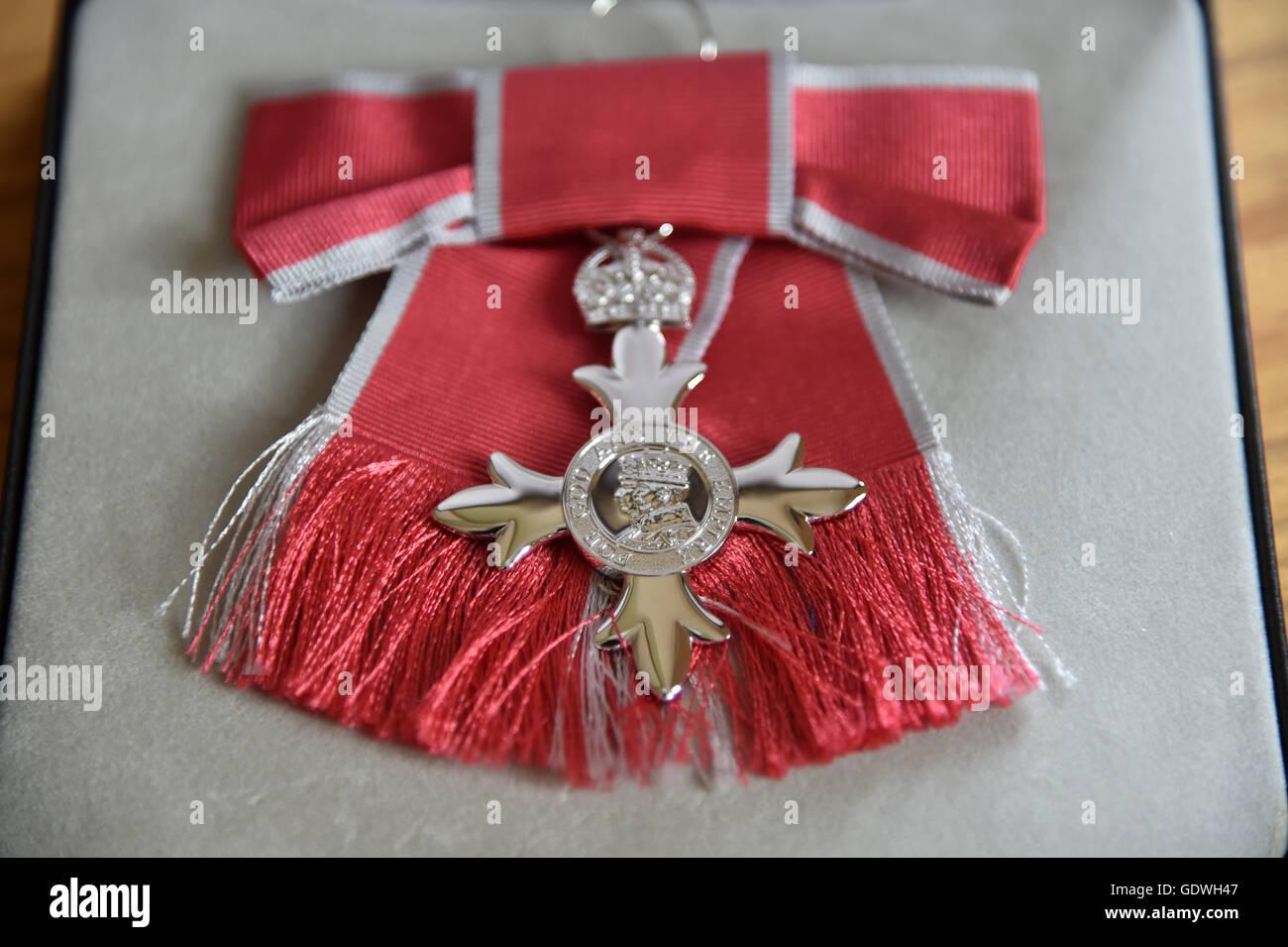 Medalla MBE británico Imagen De Stock