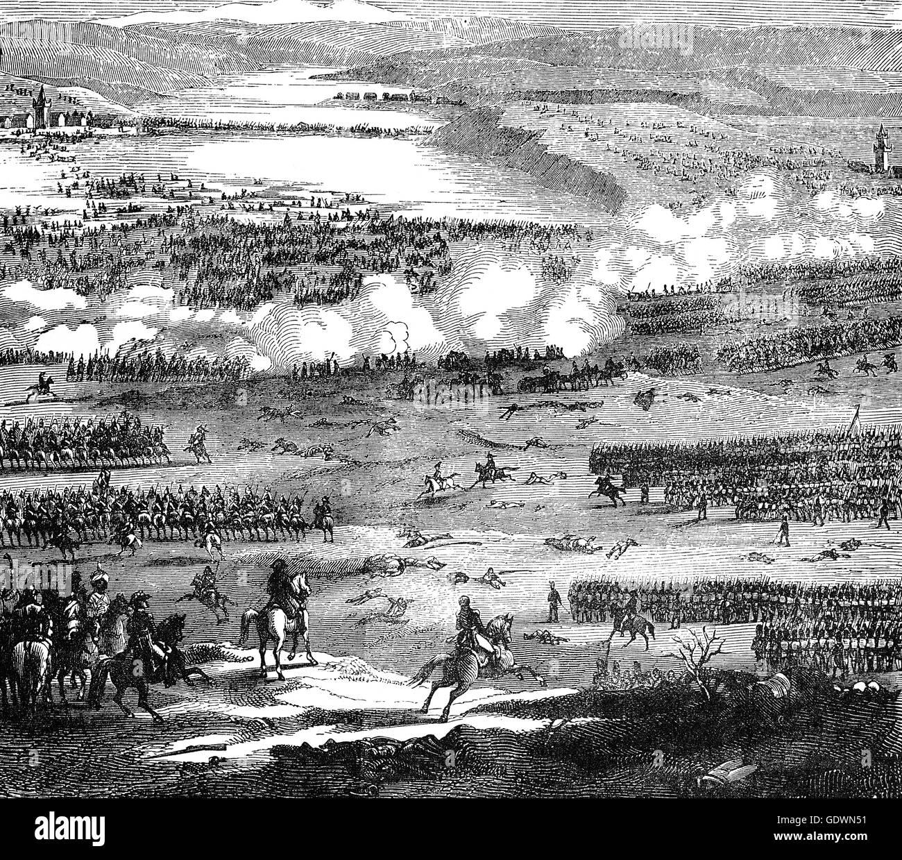 La batalla de Austerlitz (2 de diciembre de 1805), cerca de la aldea de Austerlitz en el Imperio Austriaco, fue Foto de stock