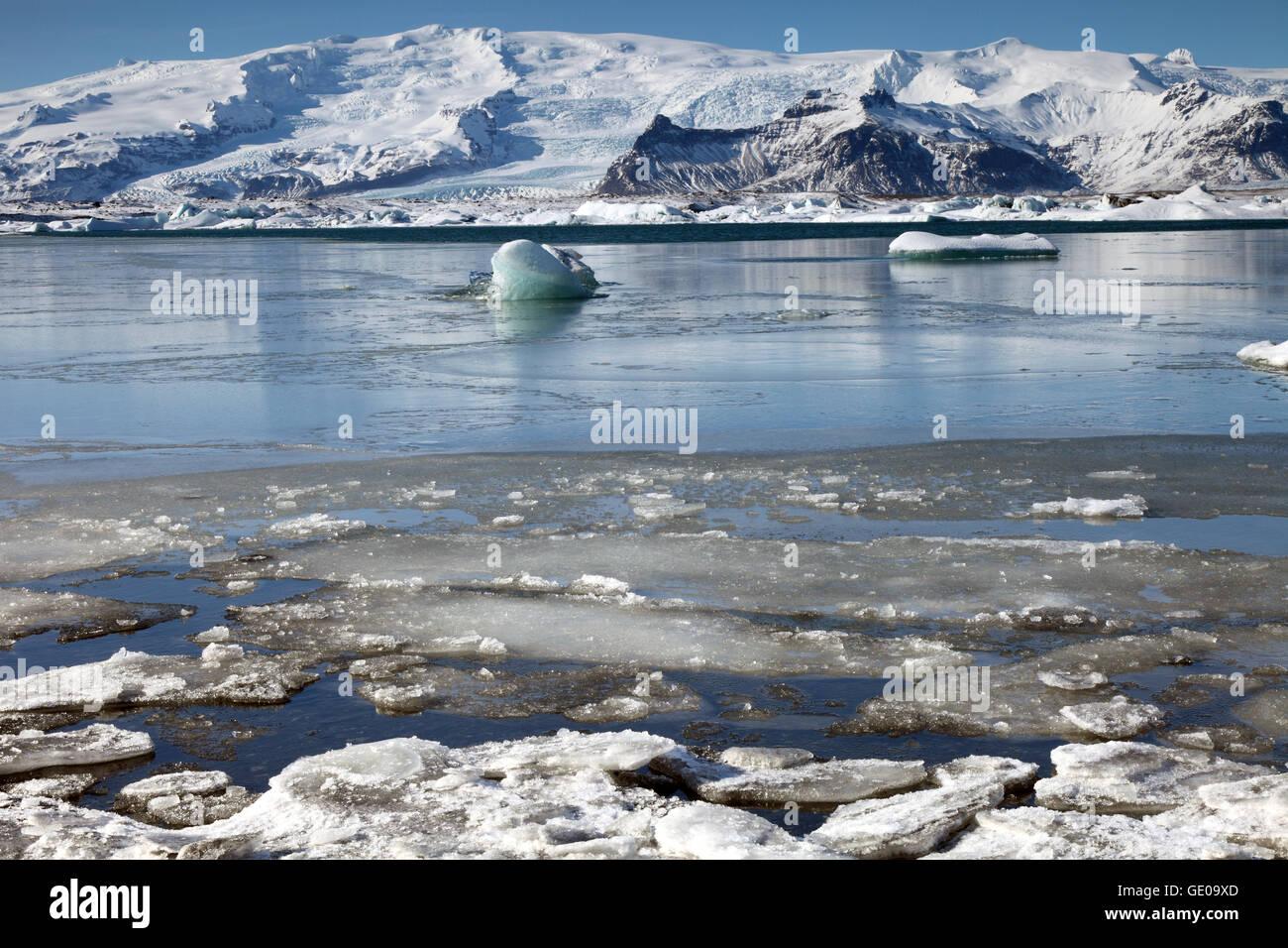 Geografía / viajes, Islandia, el este de Islandia, Jökulsarlon, laguna glacial, Additional-Rights-Clearance-Info-Not-Available Foto de stock