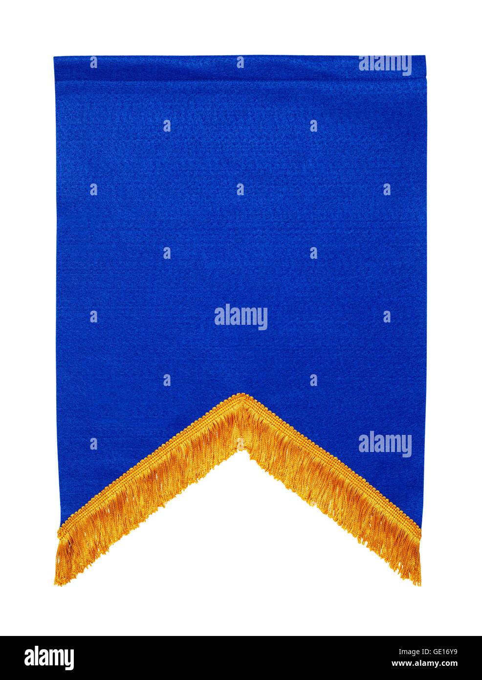 Premio Bandera Azul sintió aislado sobre fondo blanco. Imagen De Stock