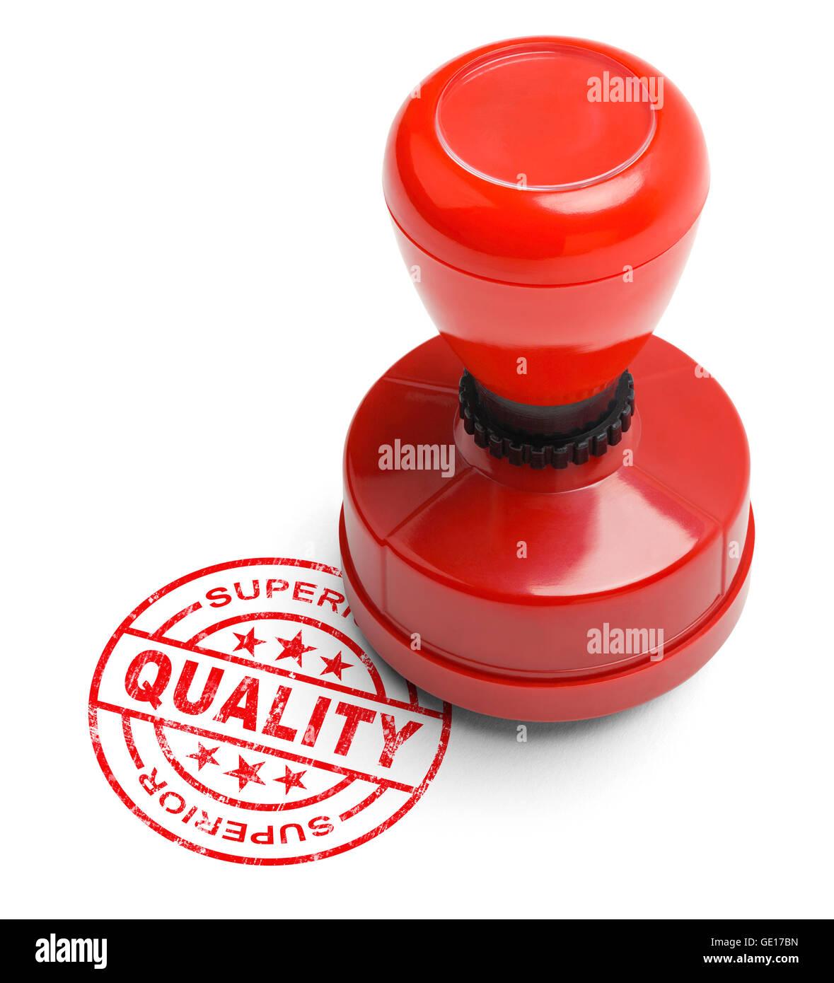 Calidad superior rojo Stamper aislado sobre fondo blanco. Foto de stock