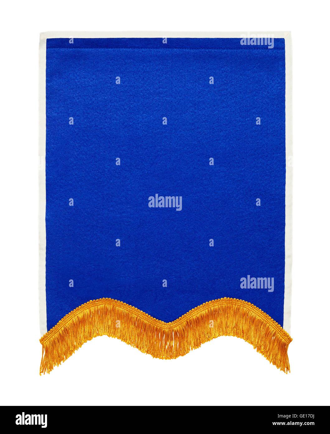 Premio Escolar azul Banner aislado sobre fondo blanco. Imagen De Stock