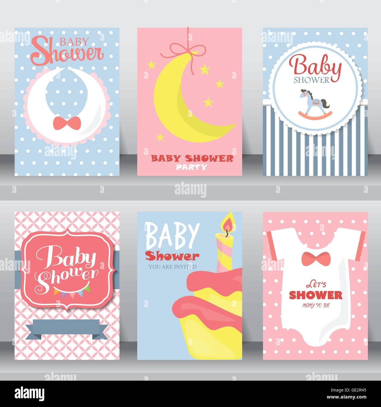 Fiesta De Baby Shower Tarjetas De Invitación Y Felicitación