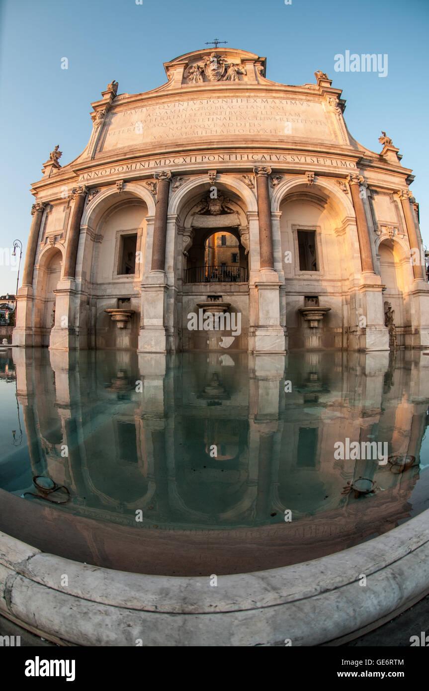 La gran belleza de película de Paolo Sorrentino de primera escena, Acqua Paola Fountain, el Gianicolo, Roma, Imagen De Stock