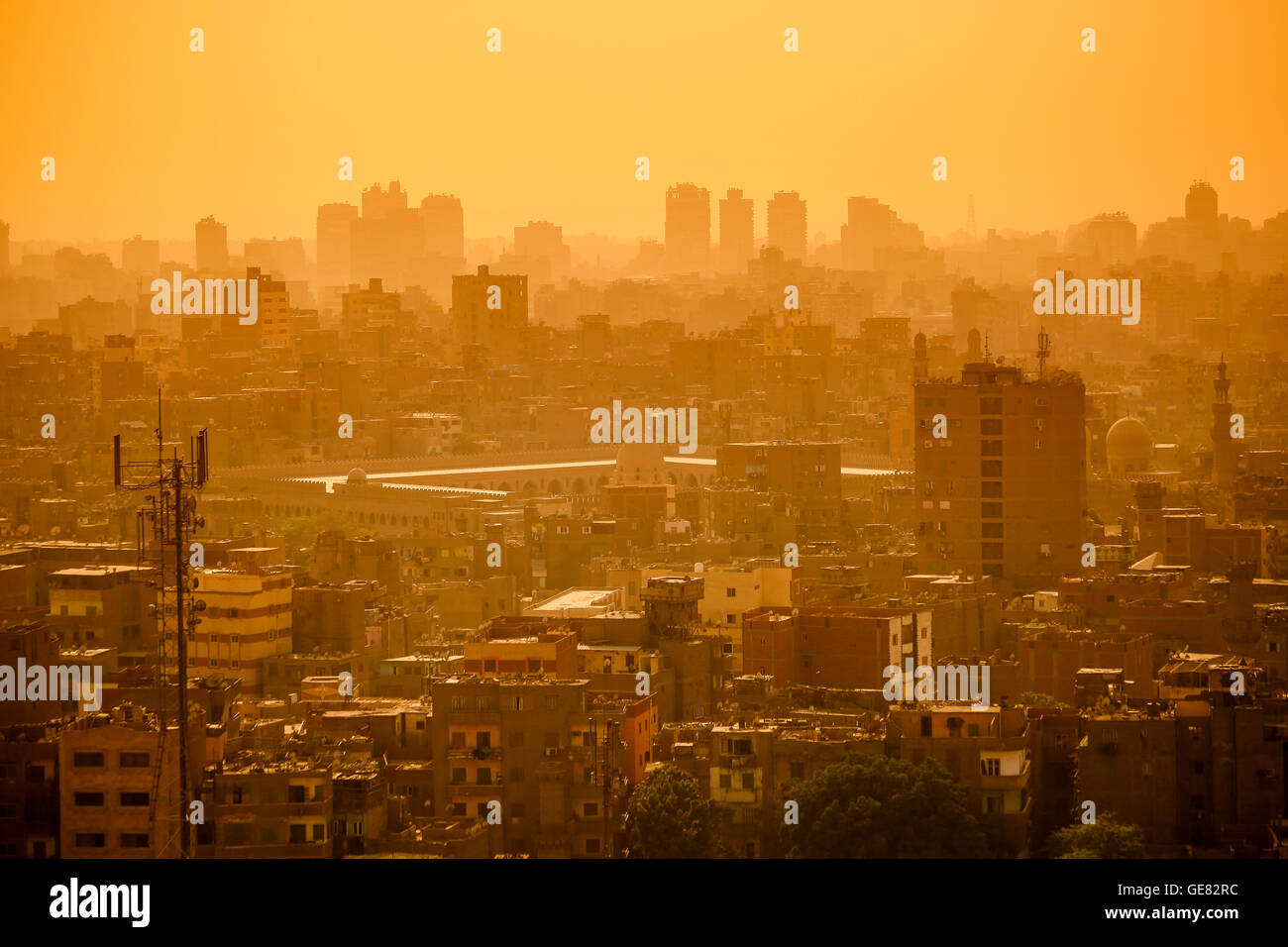 El paisaje urbano de El Cairo, Egipto Imagen De Stock
