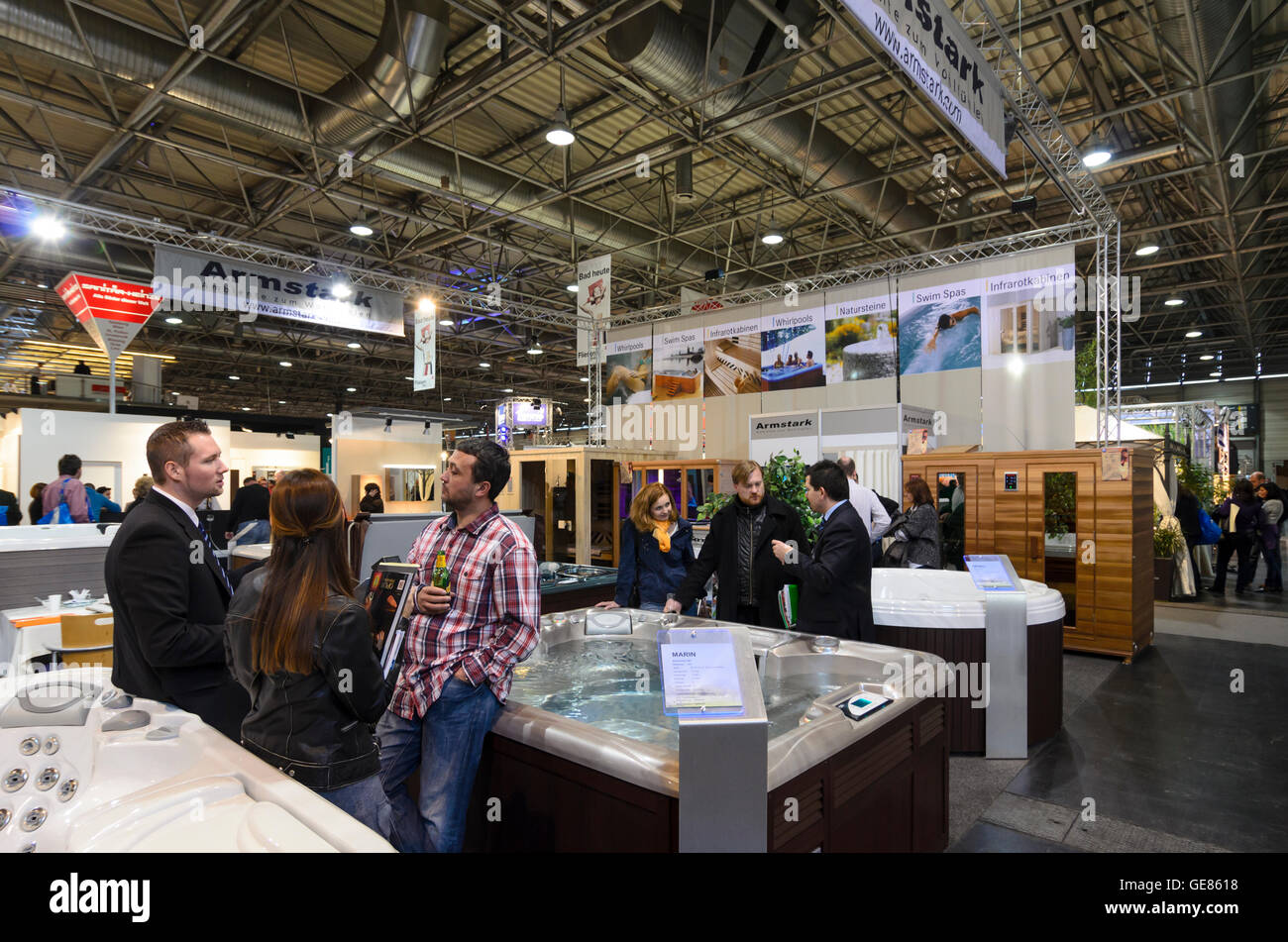 Wien, Viena: Feria ' Vida & Interieur ' en Messe Wien, hidromasaje, Austria, Wien, 02. Foto de stock