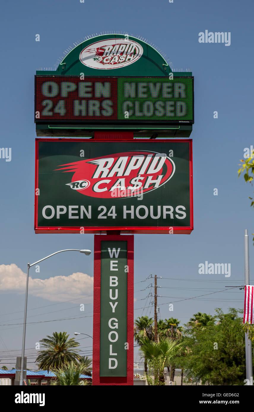 """Las Vegas, Nevada - Oficina de efectivo rápido, ofreciendo a corto plazo """"Payday Préstamos'. Foto de stock"""