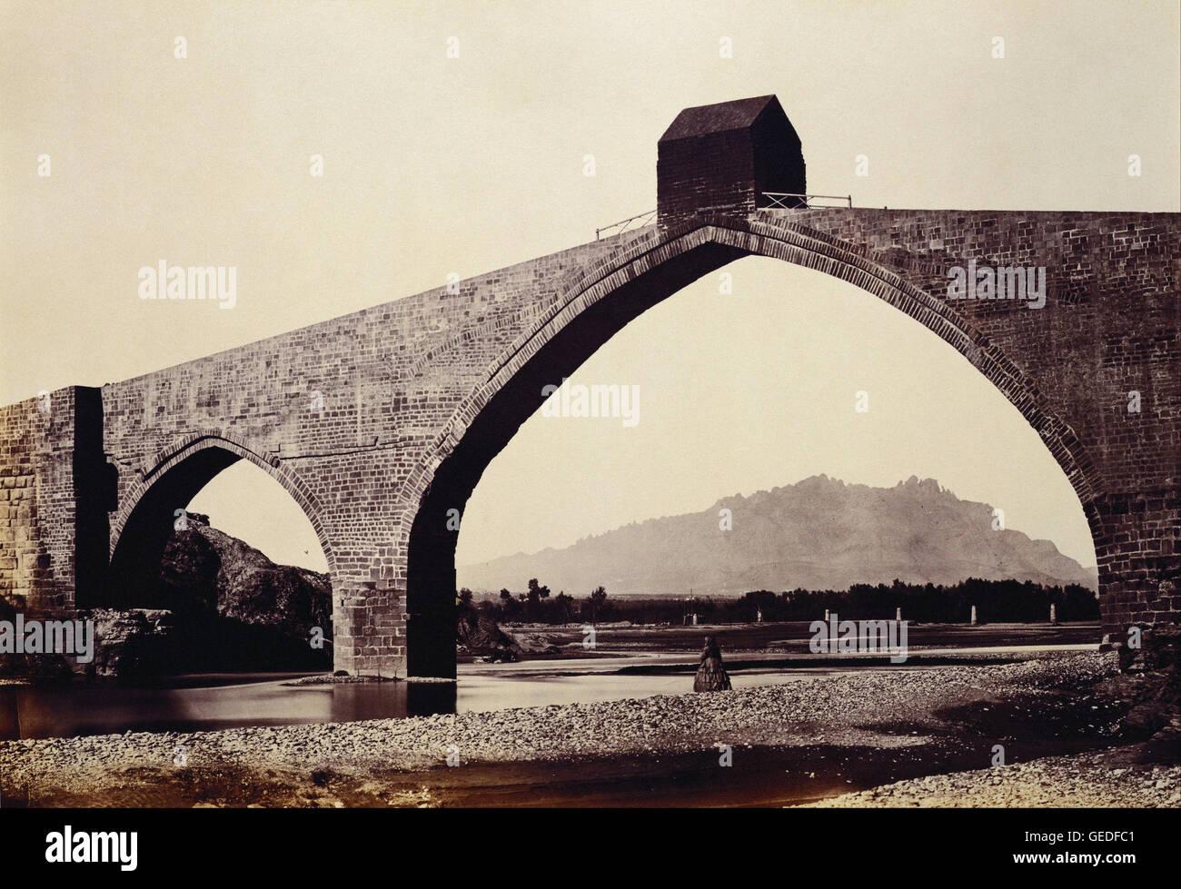 Charles Clifford - Cataluña - Puente del Diablo, Martorell Imagen De Stock