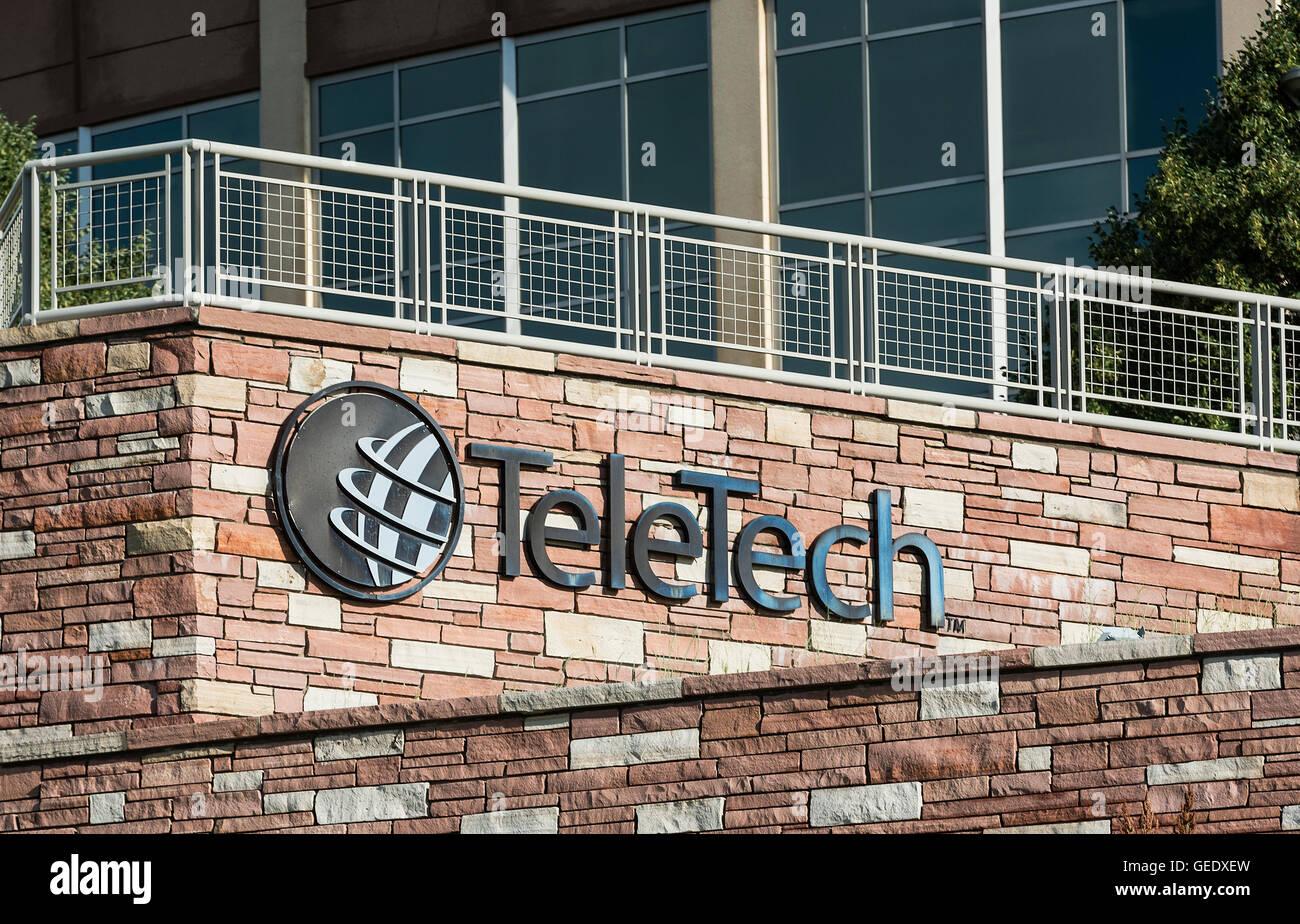 Tele Tech sede, Englewood, Colorado, Estados Unidos. Foto de stock