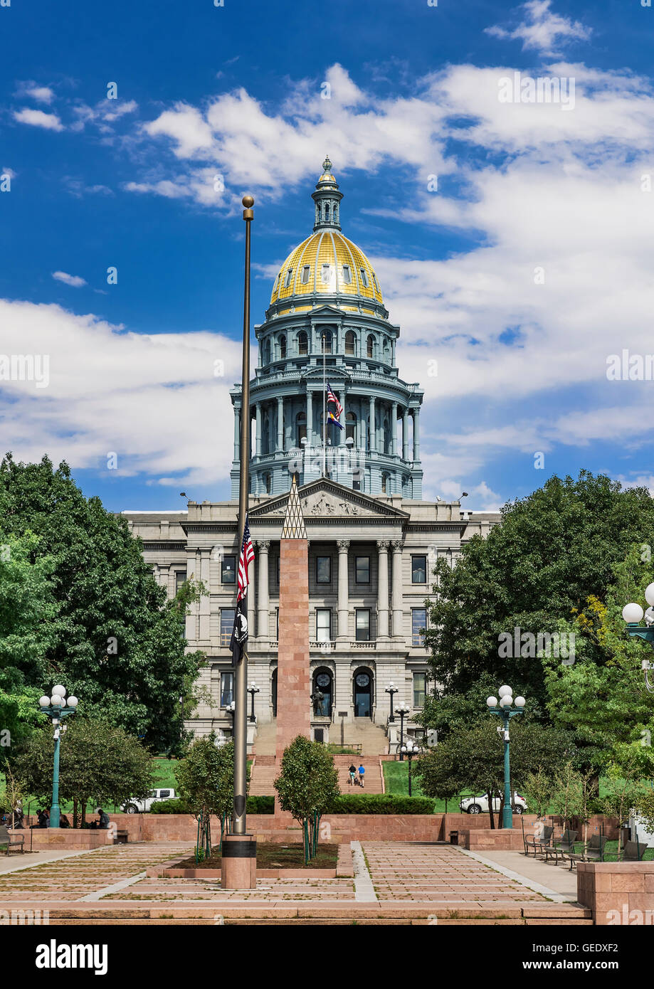 Capitolio del Estado de Colorado, en Denver, Colorado, EE.UU. Imagen De Stock