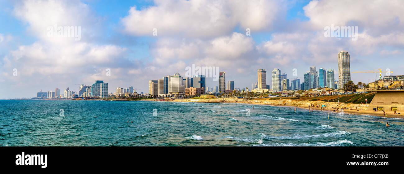 Vista del Mar Mediterráneo en Tel Aviv. Imagen De Stock