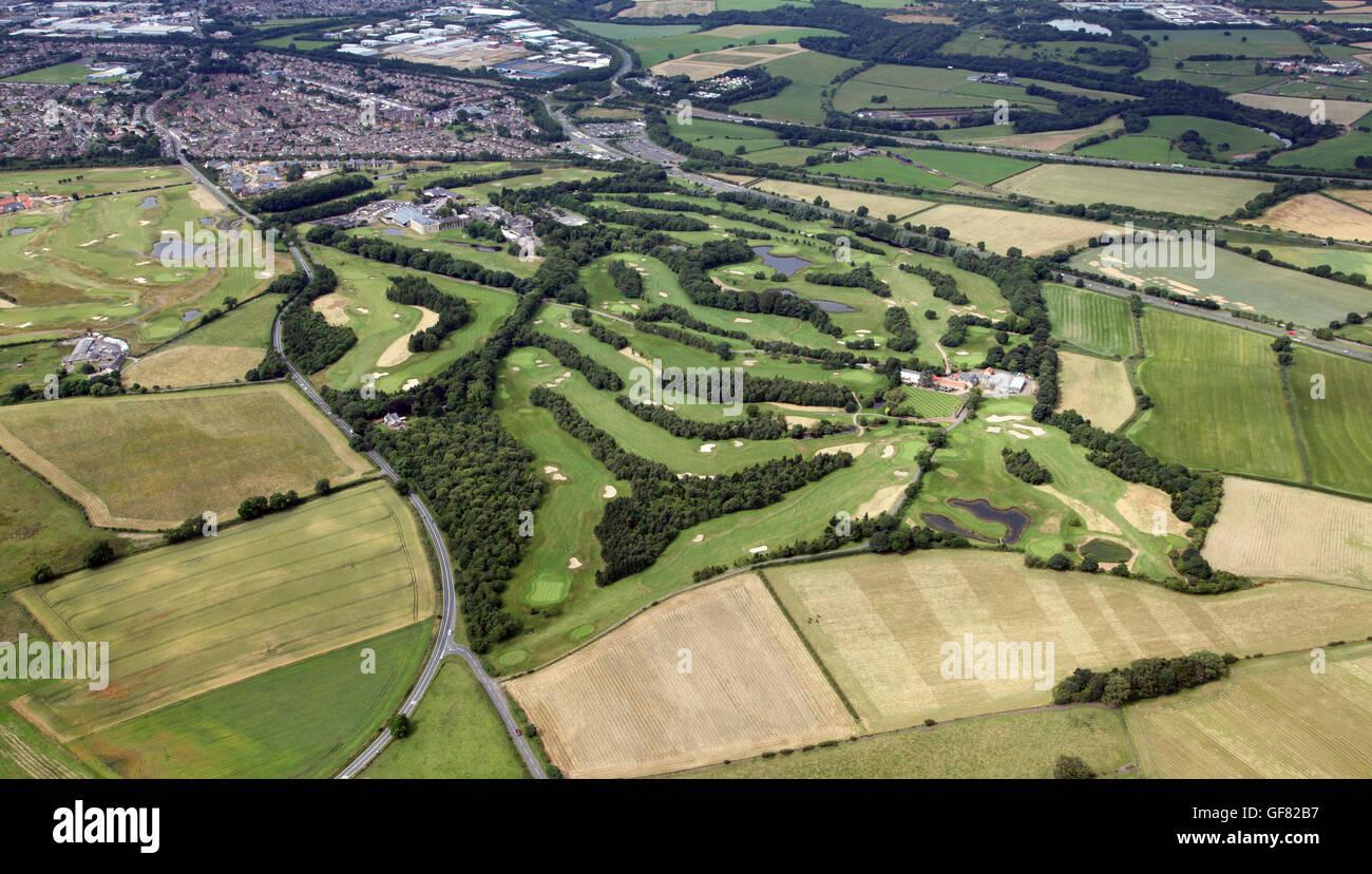 Vista aérea de Ramside Golf Club cerca de Durham, Reino Unido Foto de stock
