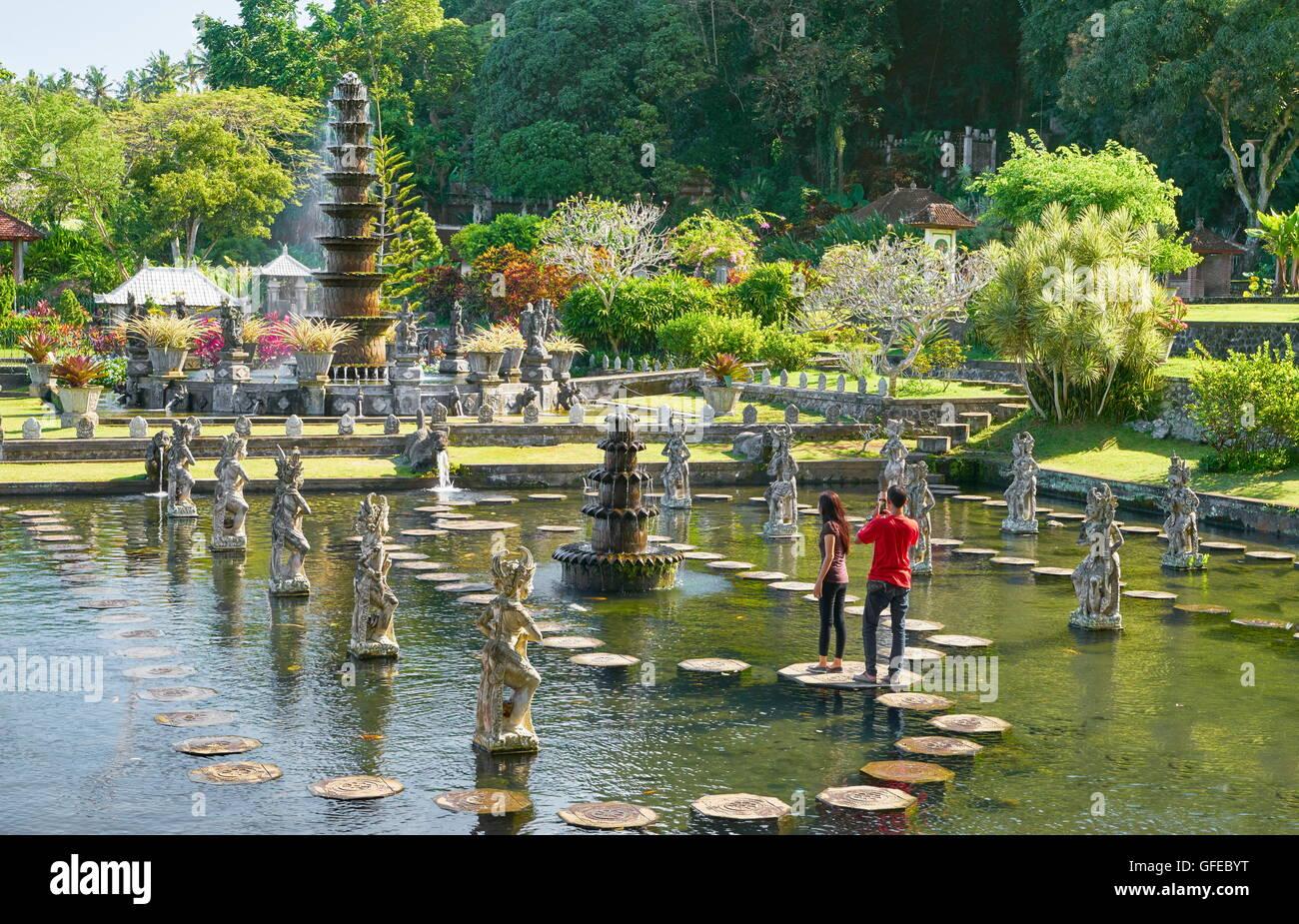 El Palacio del Agua Tirta Gangga, Bali, Indonesia Imagen De Stock