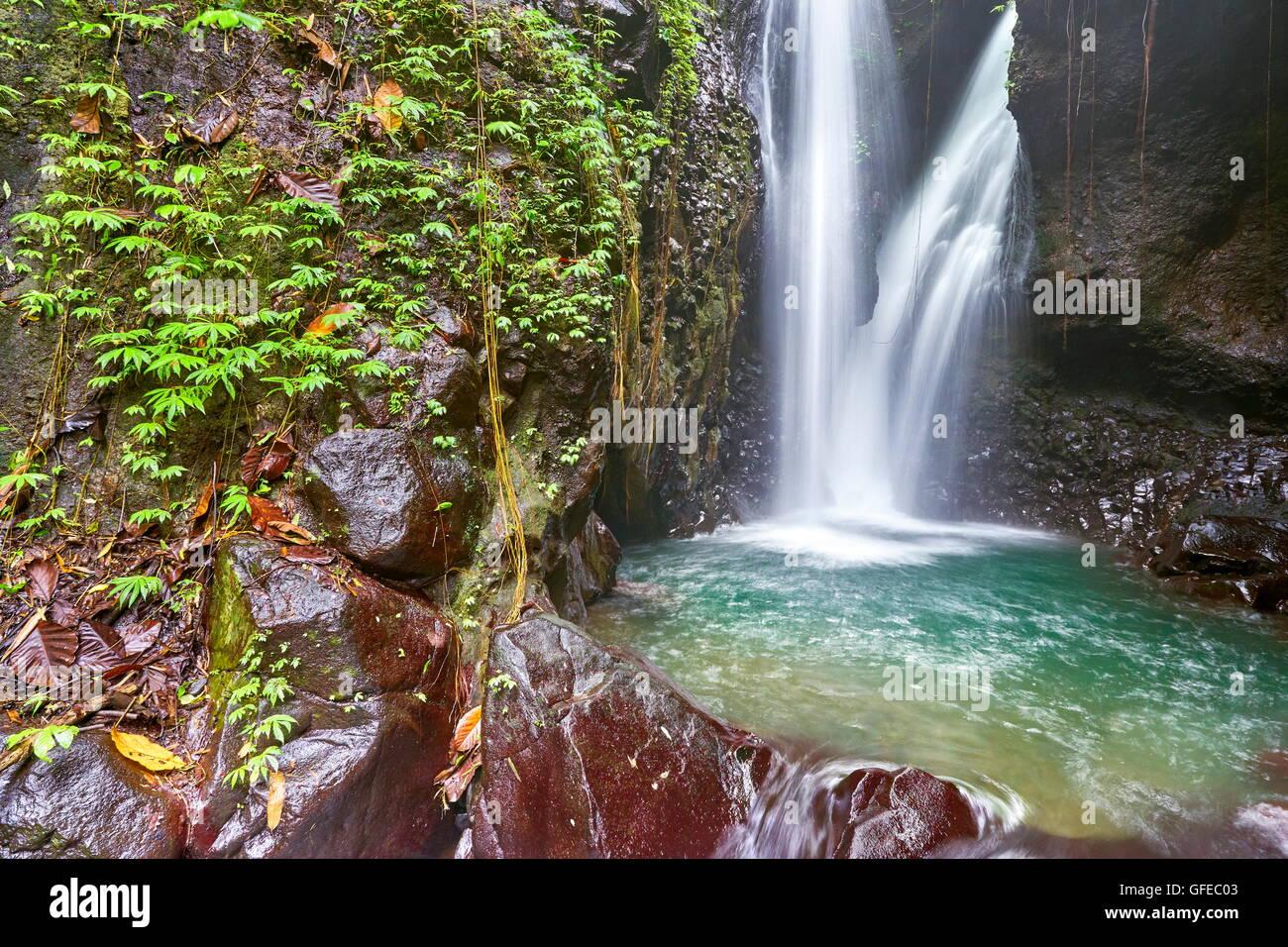 La cascada de Git Git, Bali, Indonesia Imagen De Stock