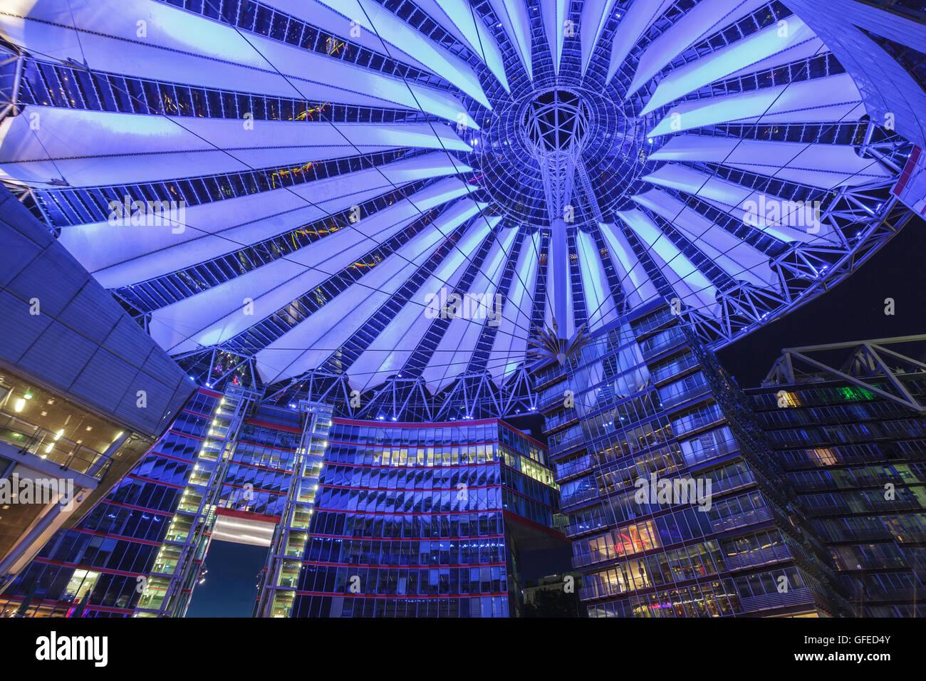 Sony Center, Berlín, Alemania Foto de stock