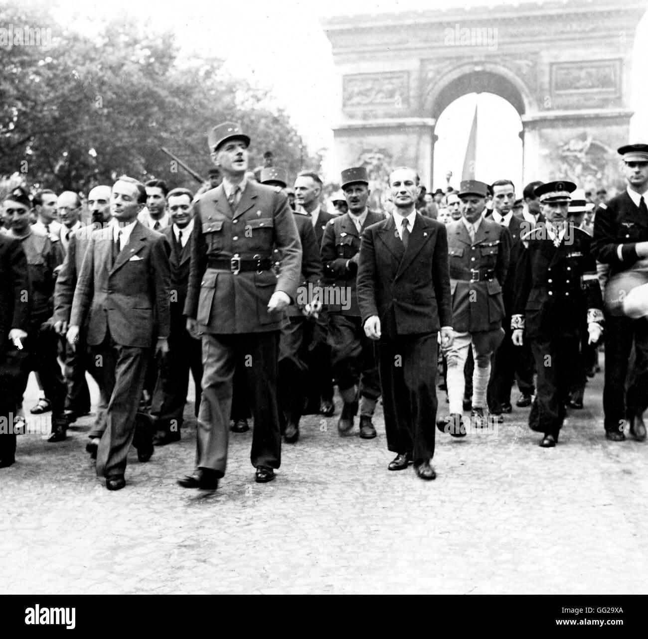 La Liberación De París La Victoria De Marzo De 1944 Francia Segunda Guerra Mundial La Guerra De Los Archivos Nacionales En Washington Fotografía De Stock Alamy