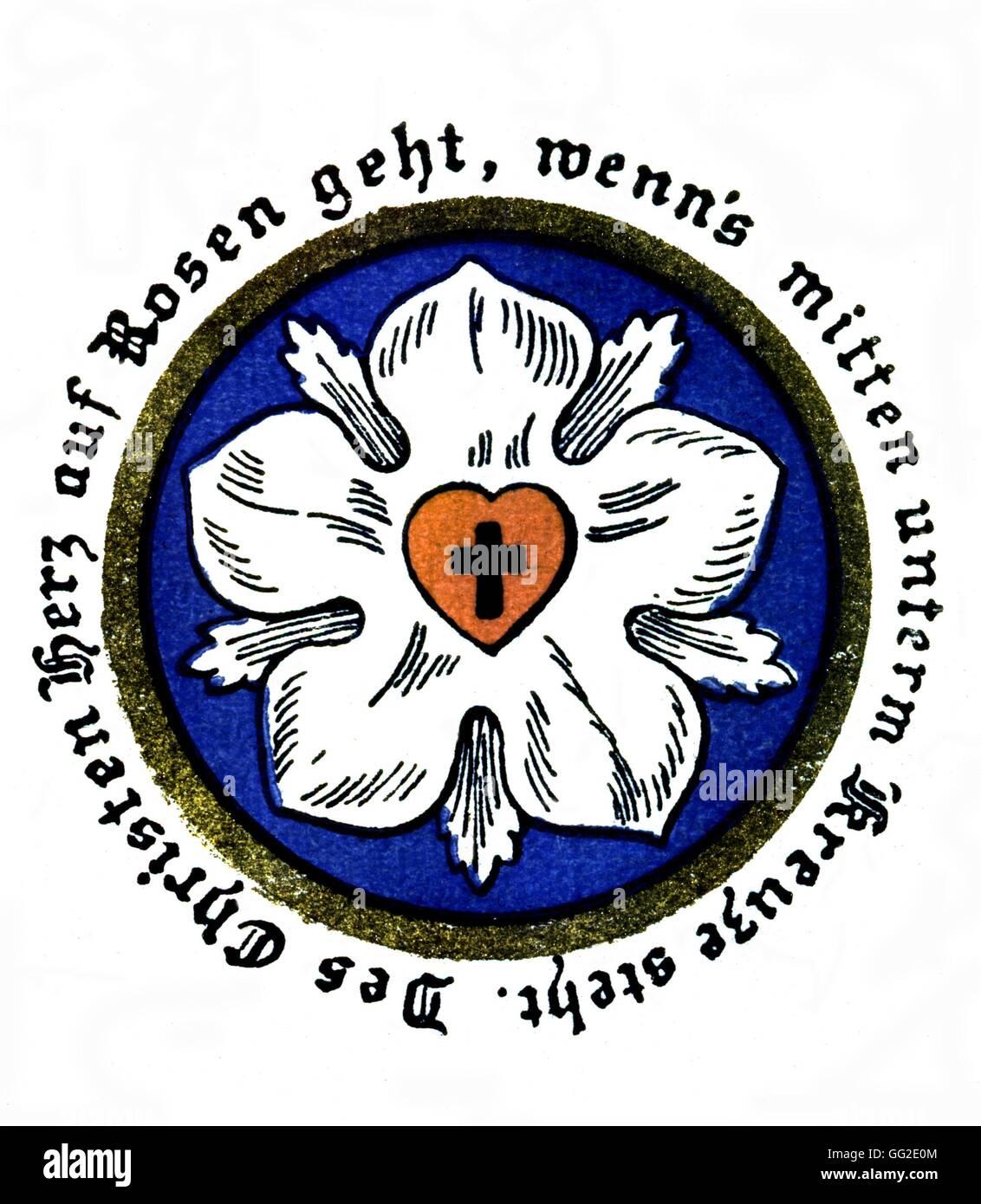Escudo De Armas De La Familia De Martin Lutero Del Siglo Xvi Biblioteca De Leipzig Fotografia De Stock Alamy