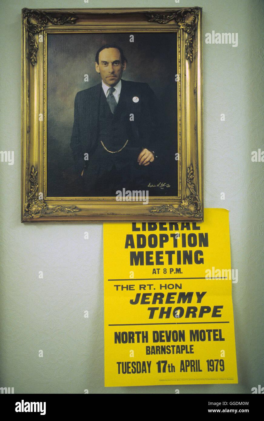 Jeremy Thorpe MP 1979 Devon 1970 UK HOMER SYKES Imagen De Stock