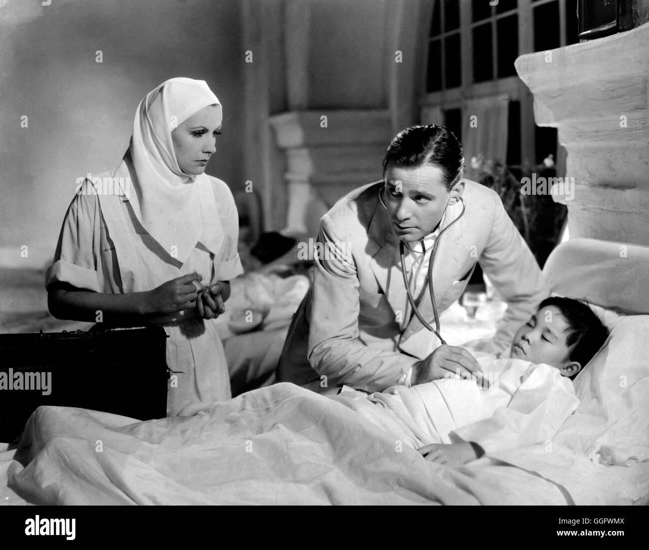 DER BUNTE SCHLEIER / The painted veil USA 1934 / Richard Boleslawski Greta Garbo (Katrin Fane), Herbert MARSHALL (Walter Fane) Regie: Richard Boleslawski aka. El velo pintado Foto de stock
