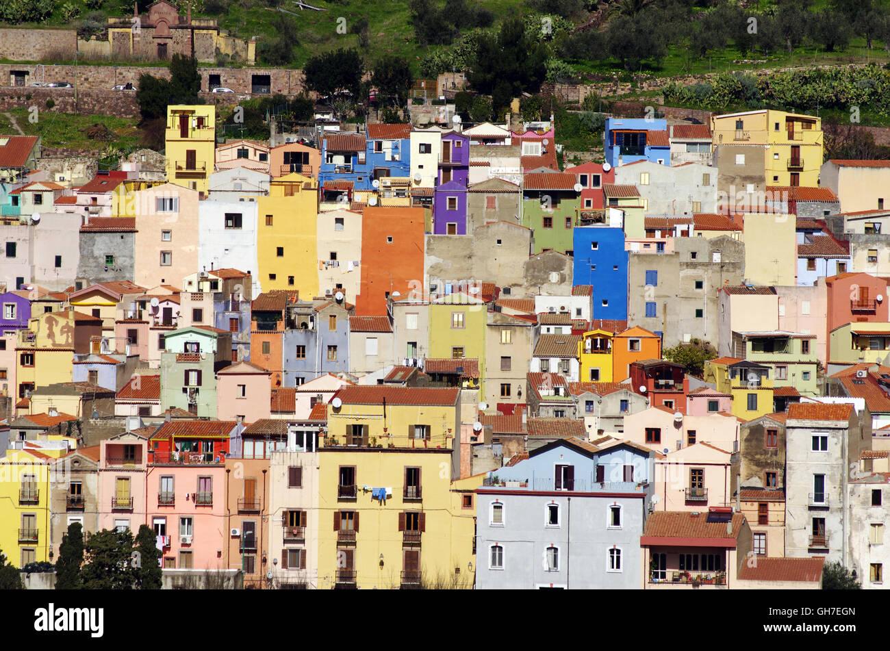 Bosa, Sardinia Foto de stock
