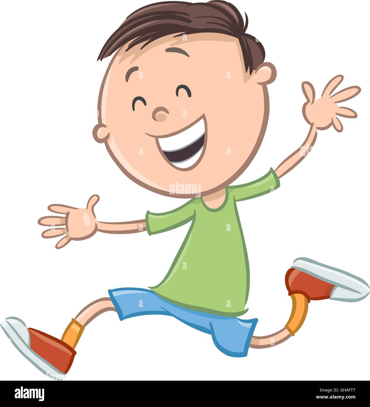 Ilustración De Dibujos Animados De Feliz Preescolar O De Edad