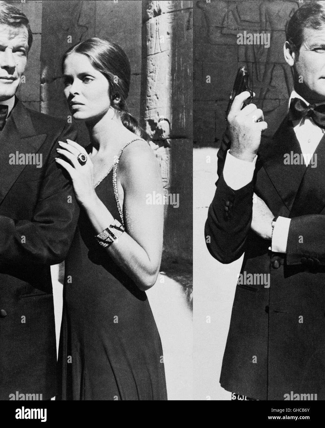 DER, DER MICH LIEBTE SPION La espía que me amó UK/USA 1977 Lewis Gilbert Roger Moore (James Bond), Barbra BACH (Anya Foto de stock