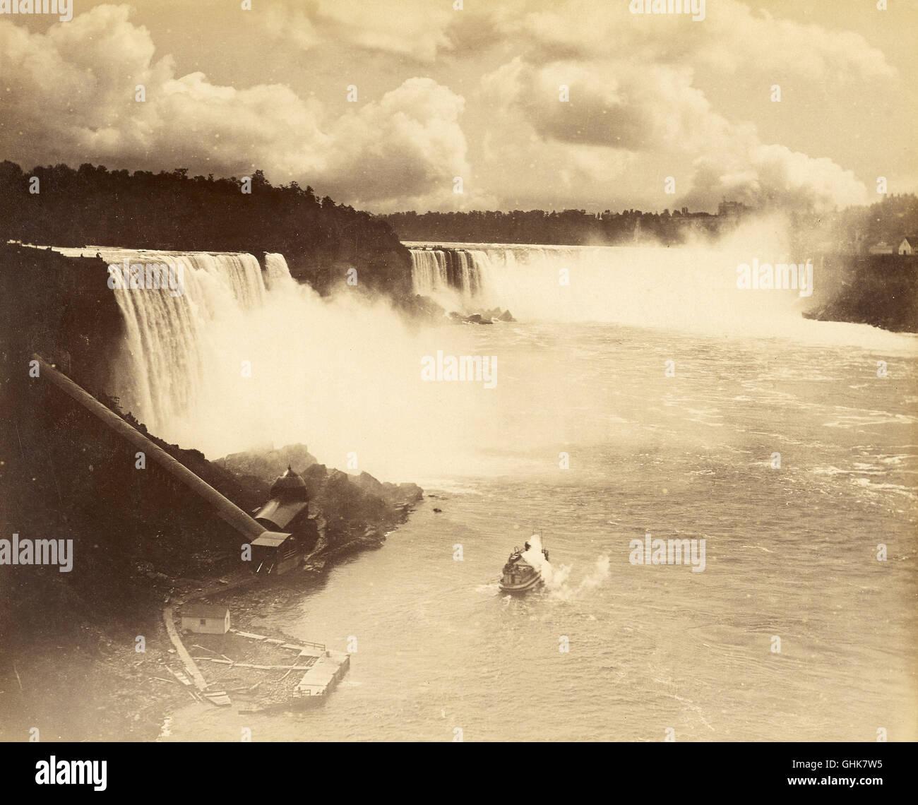 Las Cataratas del Niágara, del siglo XIX. Imagen De Stock