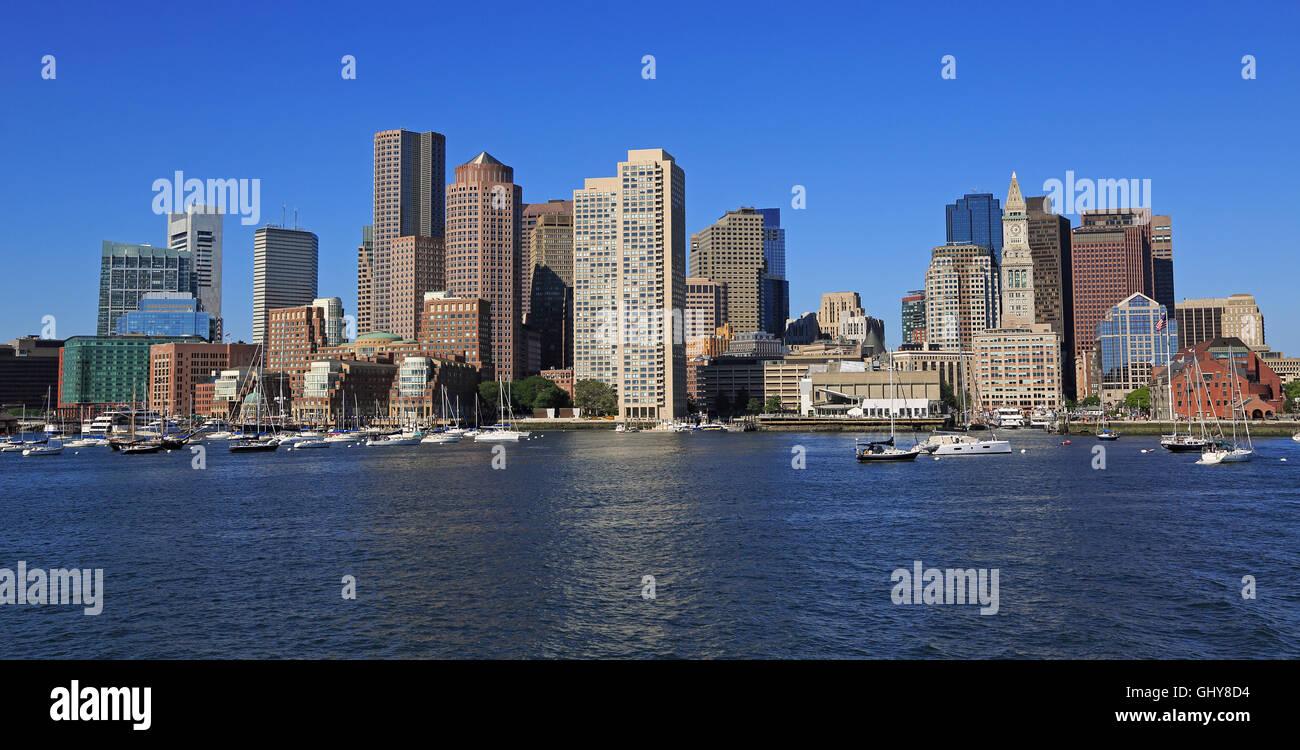 Ciudad y el puerto de Boston, EE.UU. Imagen De Stock