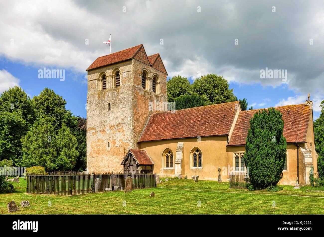 Iglesia parroquial, Fingest, Buckinghamshire, Inglaterra Foto de stock