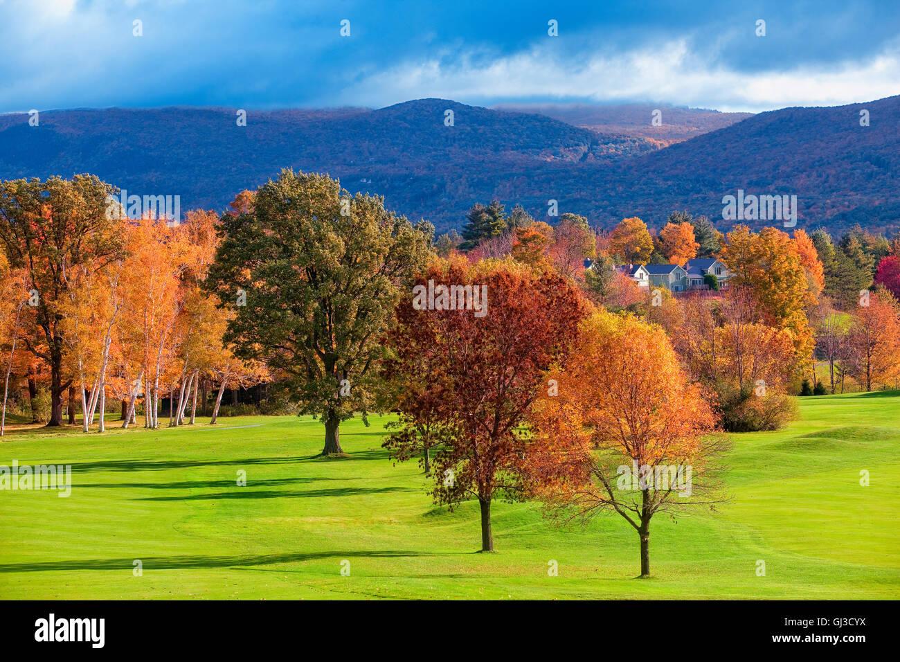 Paisaje cerca de Woodstock, Vermont, EE.UU. Imagen De Stock