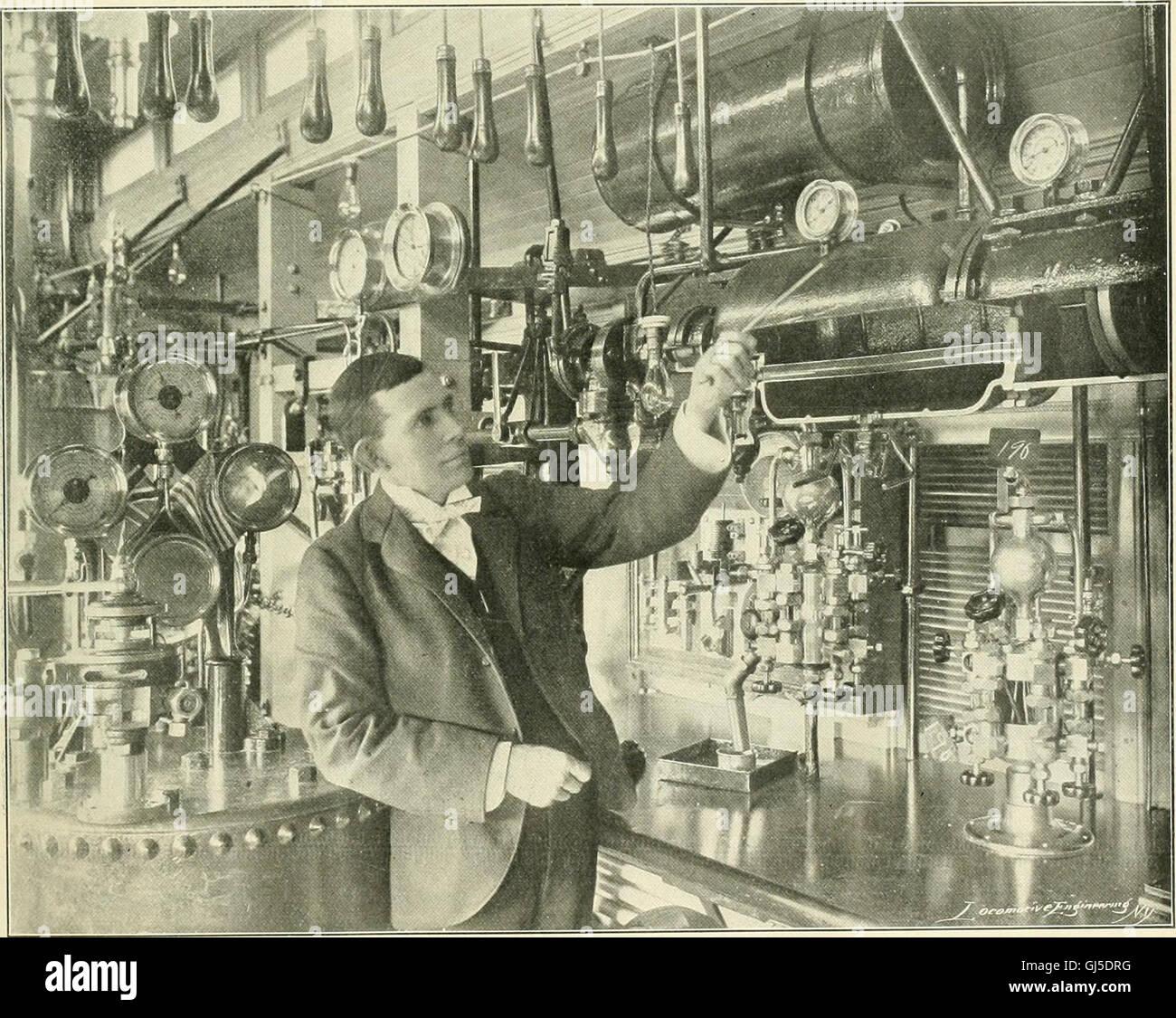 Locomotora ingeniería - una práctica oficial de potencia motriz ferroviaria y el material rodante (1900) Foto de stock