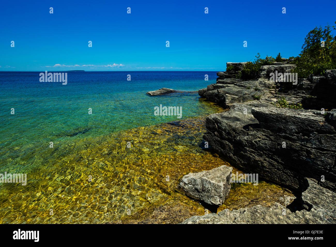 Parque Nacional Península de Bruce Georgian Bay Tobermory Ontario Canada Foto de stock