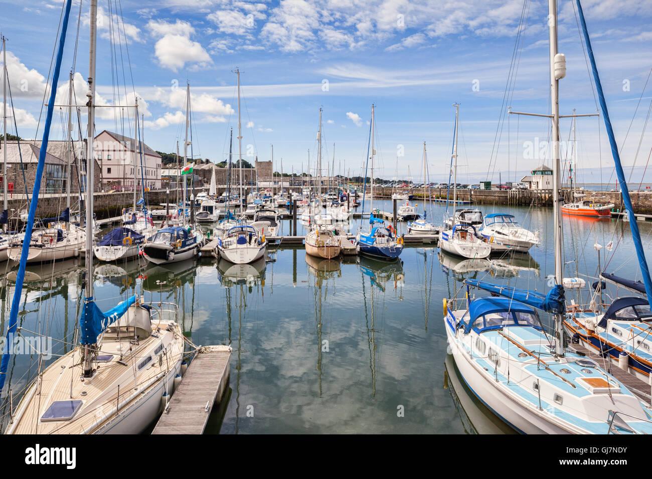 Victoria Dock, Caernarfon, Gwynedd, Gales, Reino Unido Foto de stock