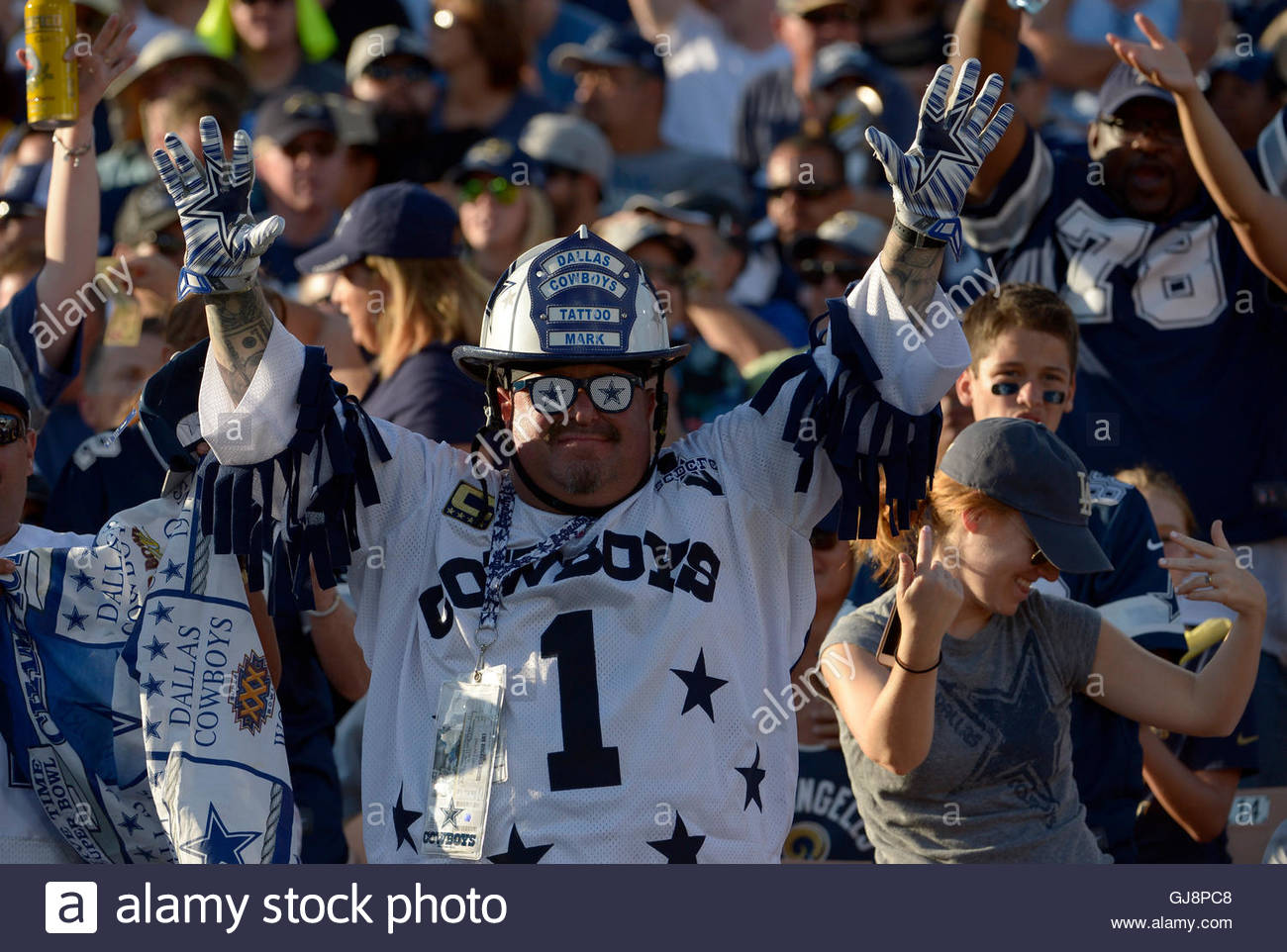Los Angeles California Eeuu 13 Aug 2016 Un Dallas Cowboys