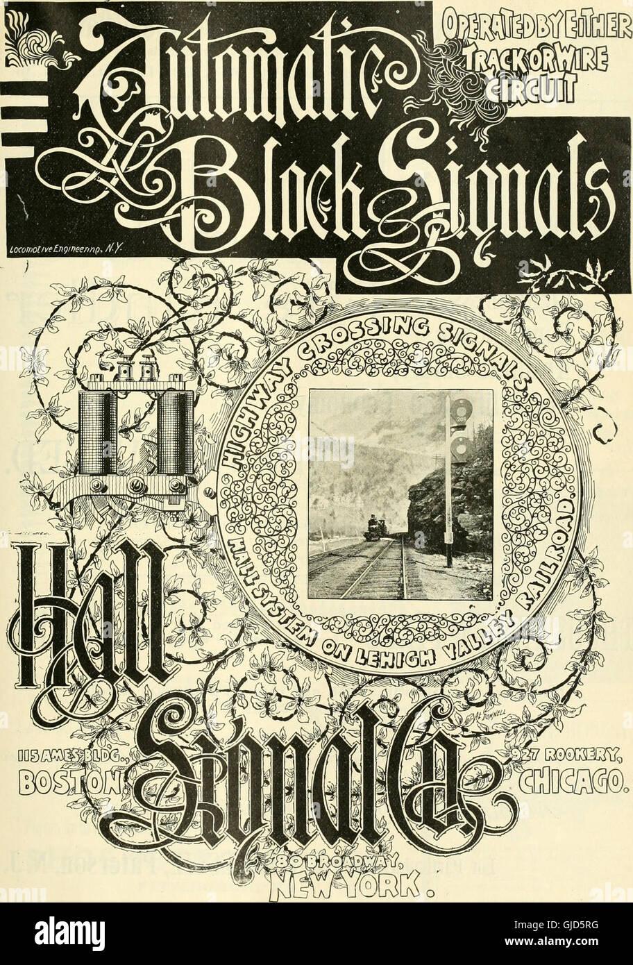 Locomotora ingeniería - una práctica oficial de potencia motriz ferroviaria y el material rodante (1895) Foto de stock