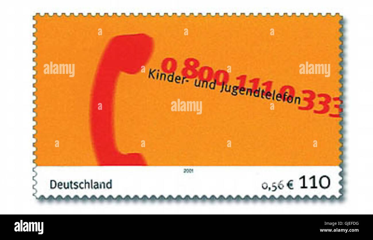 Sello Alemania 2001 MiNr Kinder- und Jugendtelefon2164 Foto de stock