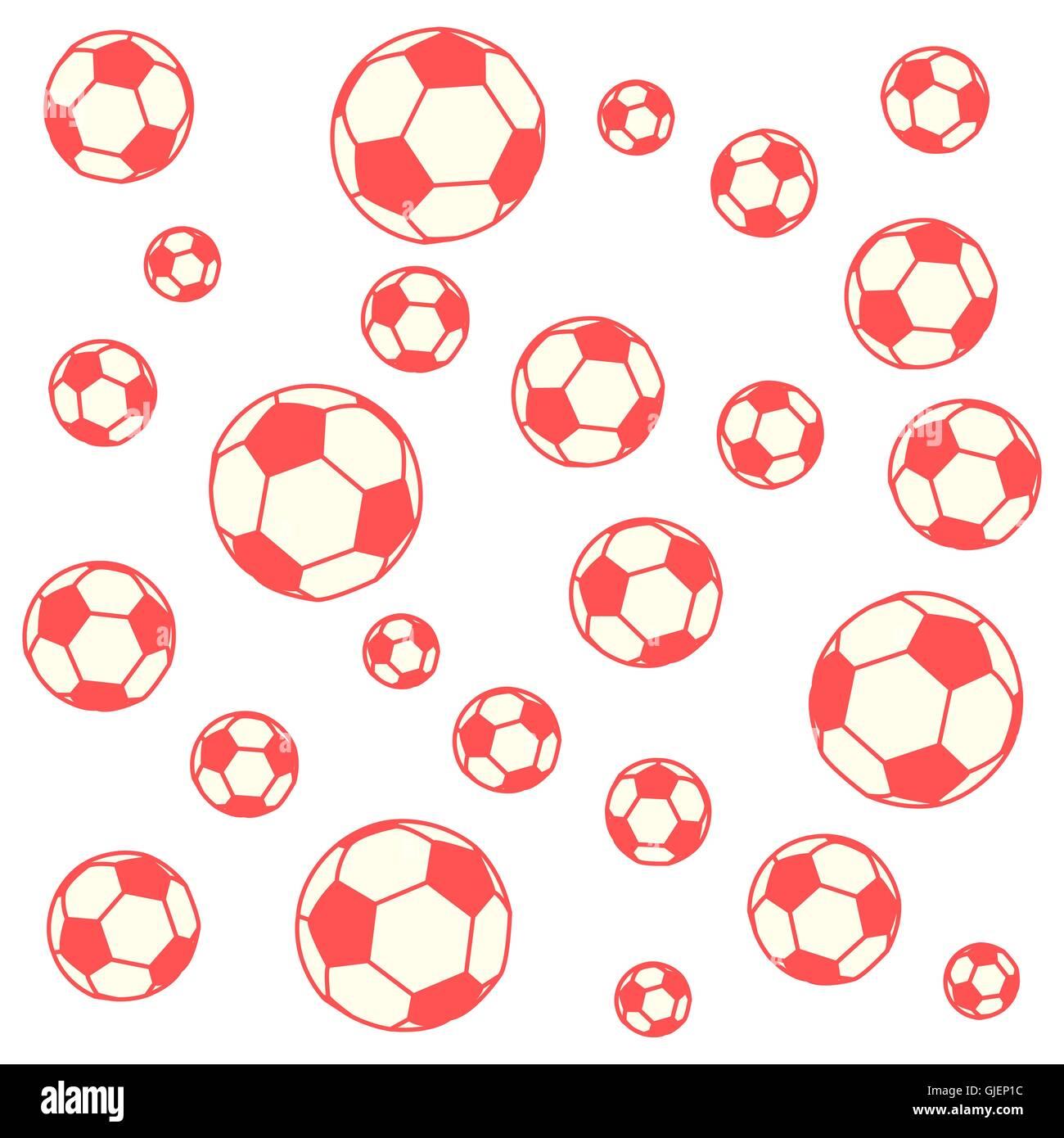 Bonita imagen de coloridas pelotas de fútbol sobre un fondo de color ... d7075bbaab626