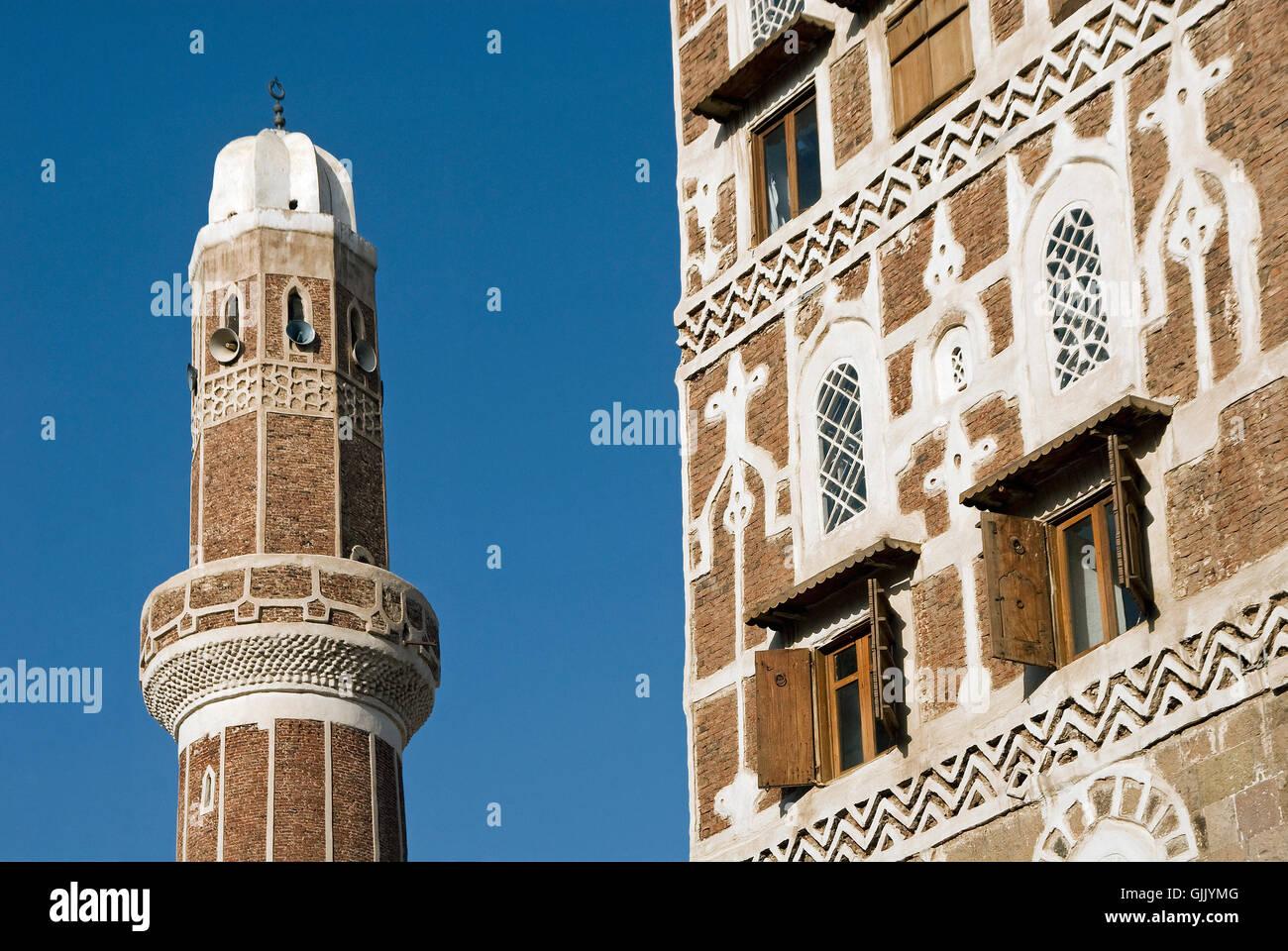 Islam en yemen Foto de stock