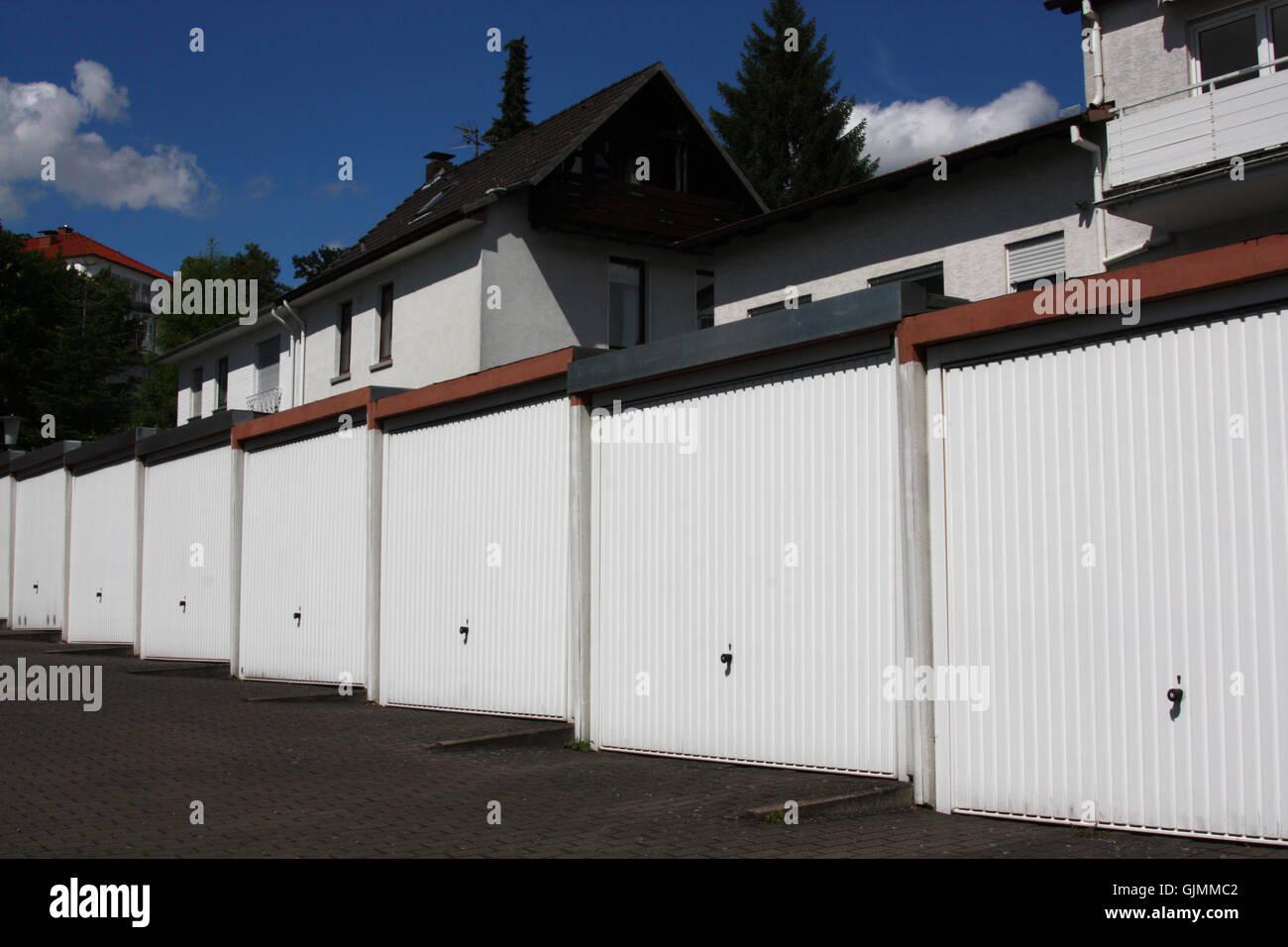 Garaje de chapa corrugada garajes Imagen De Stock