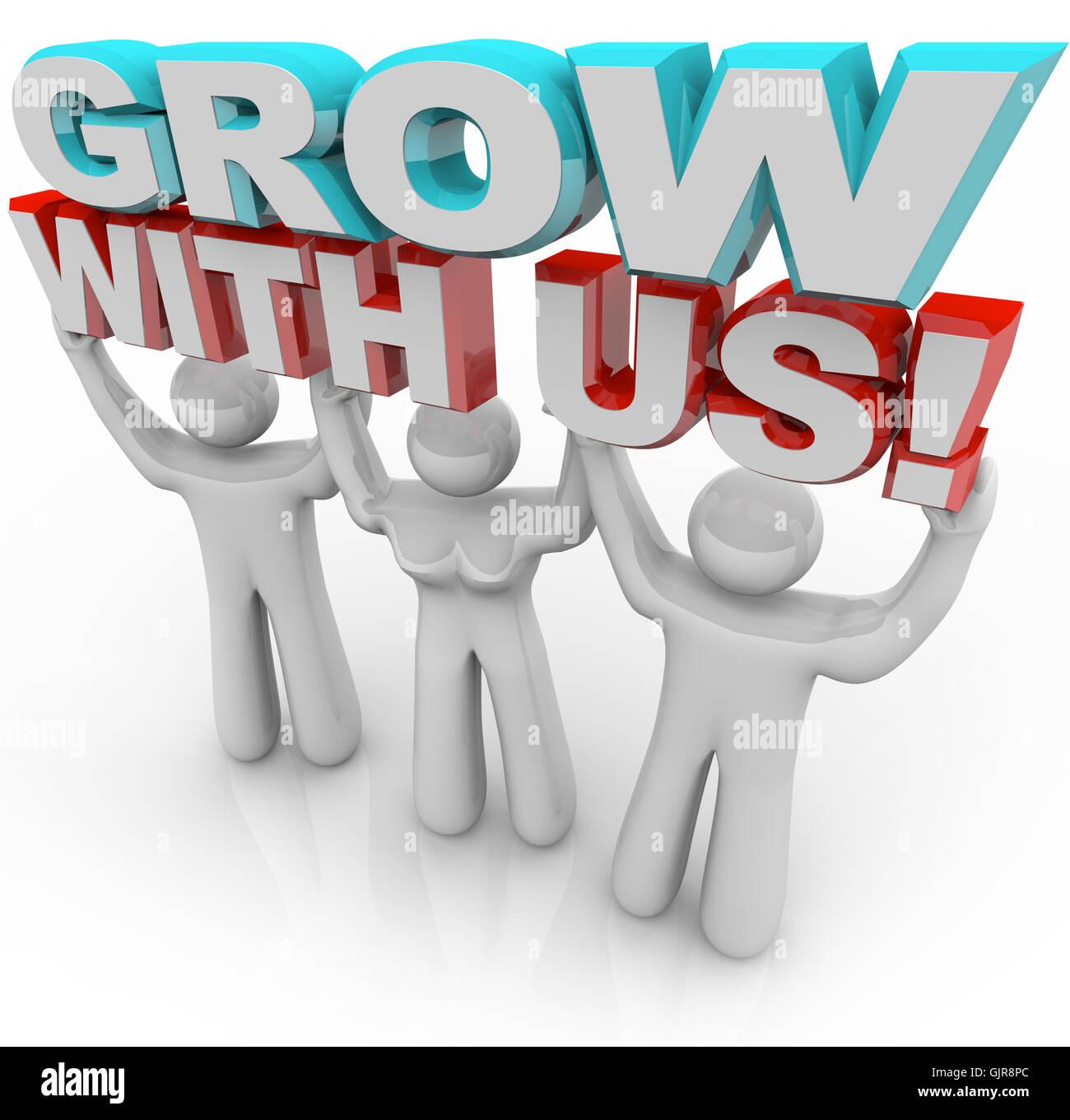 Crezca con nosotros - Únase a un grupo de Crecimiento Personal Imagen De Stock