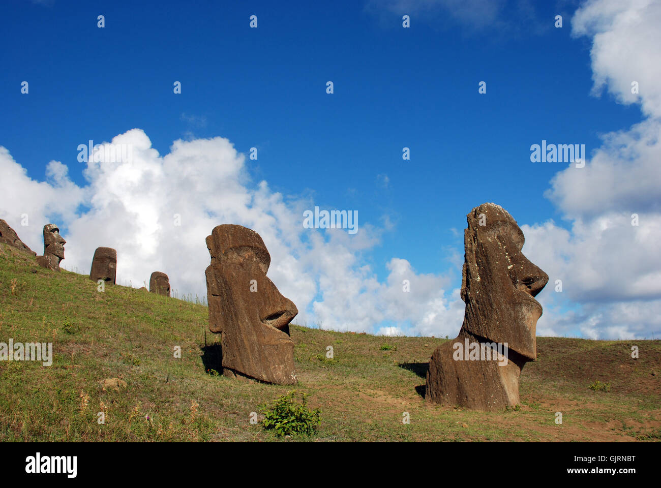 Moai hinariru y compañeros Imagen De Stock