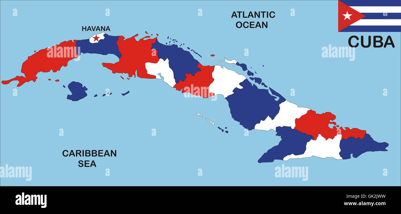 Cuba Mapa Del Mundo.Atlas De Cuba Mapa Fotografia De Stock Alamy