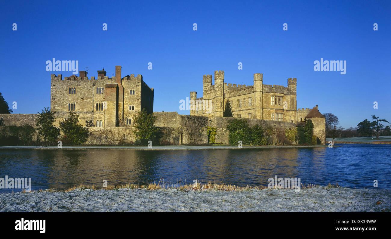 Castillo de Leeds. Kent. Inglaterra. UK Foto de stock