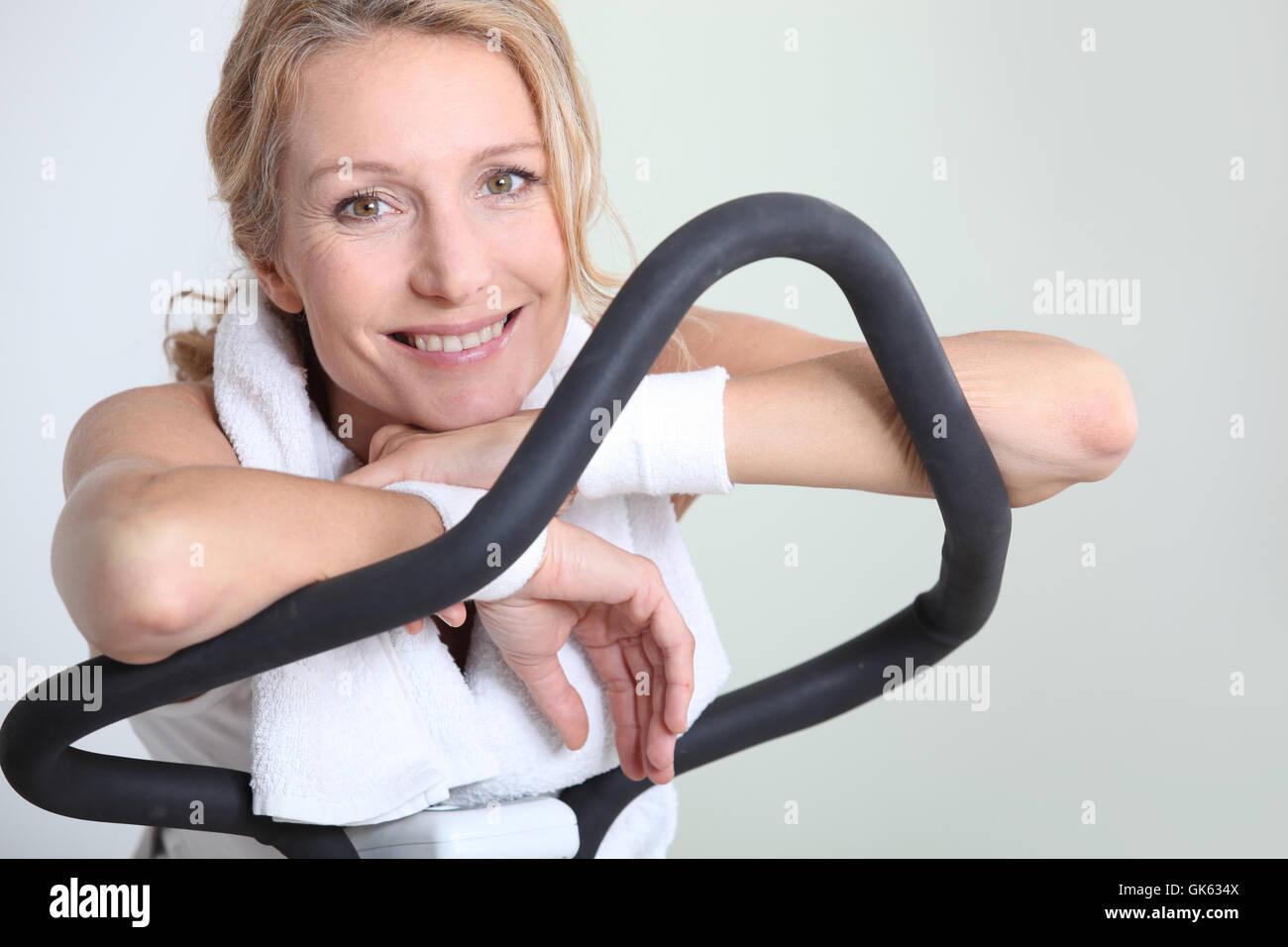 Equipo de ejercicio de salud Imagen De Stock