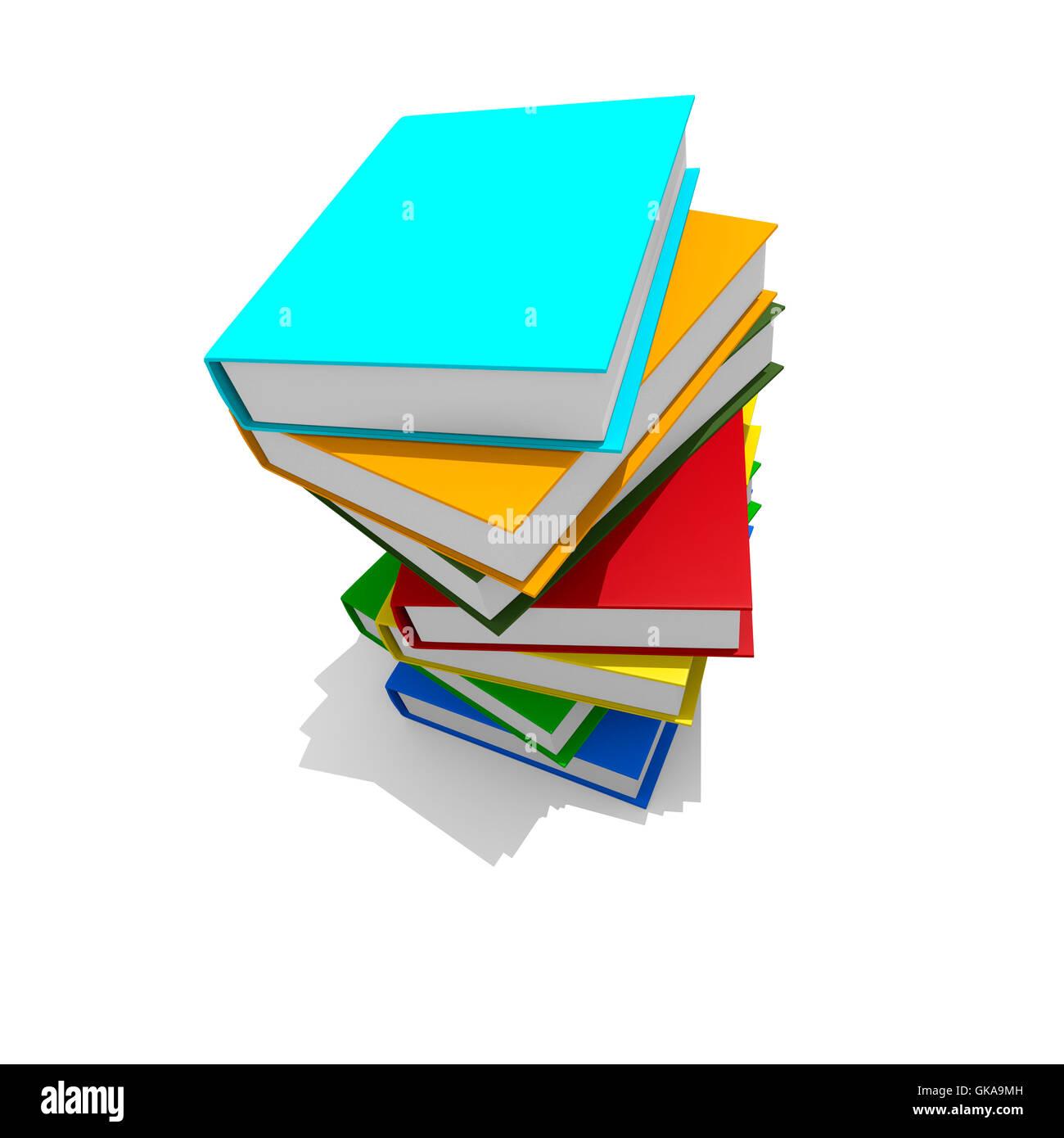 Pila de libros coloridos,imagen 3d Foto & Imagen De Stock: 115167825 ...
