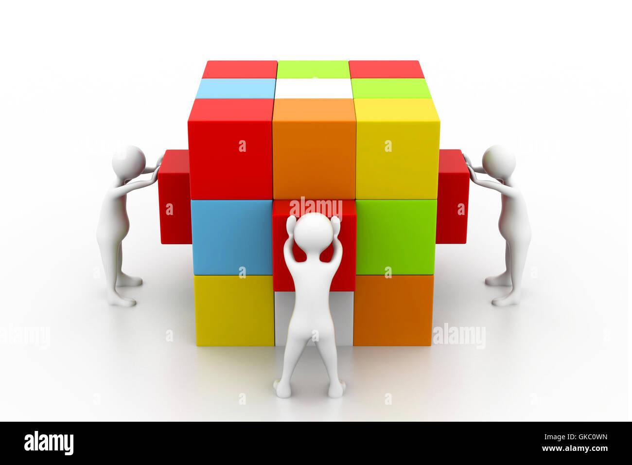 Tratar negocios cuadrado Imagen De Stock
