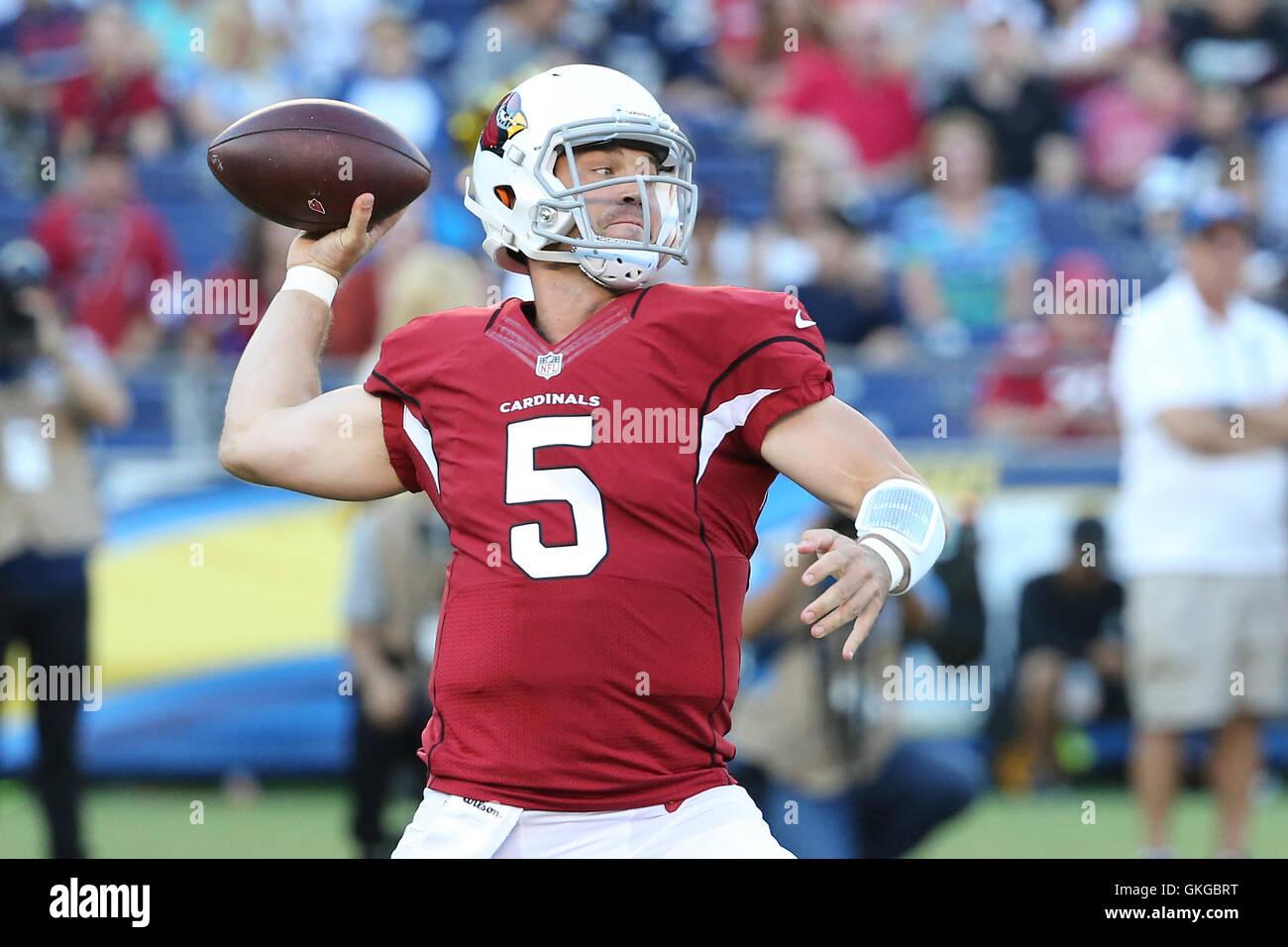 San Diego, CA, EE.UU. 19 Aug, 2016. Agosto 9, 2016: Arizona Cardinals quarterback Drew Stanton (5) se prepara para Imagen De Stock