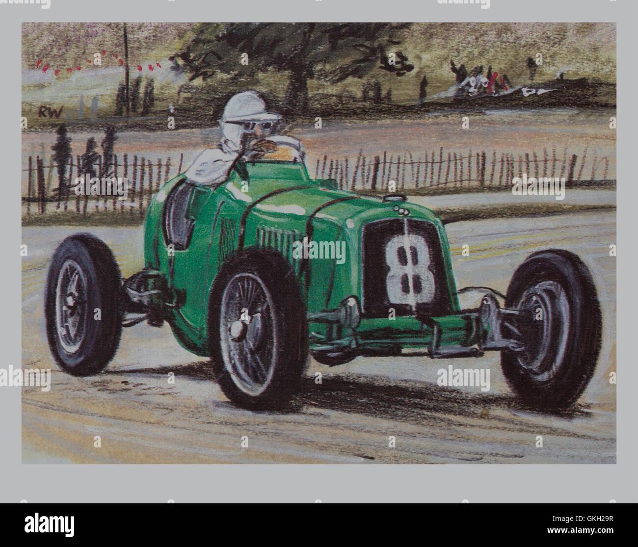 1934 ERA (automóviles de carreras en inglés) Imagen De Stock