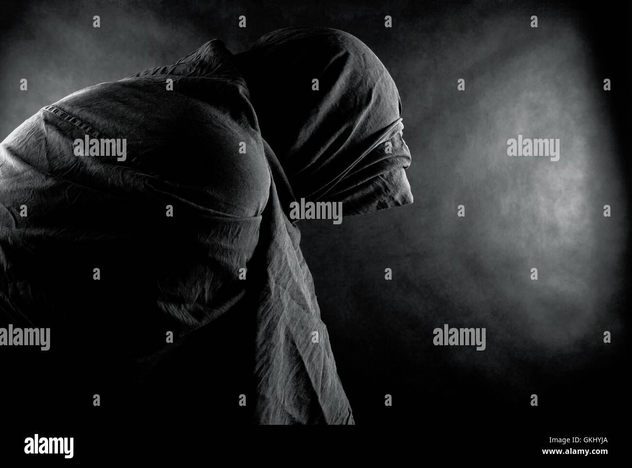 Peligro de muerte la oscuridad Imagen De Stock