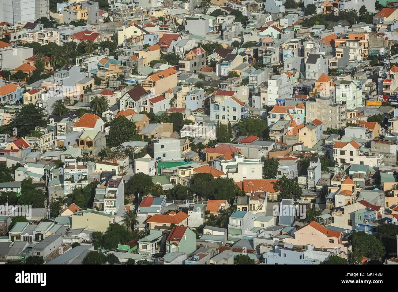 Vista aérea de Vung Tau, Vietnam Foto de stock